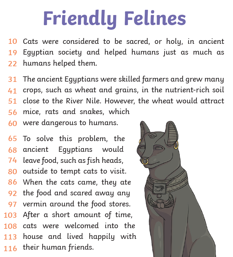 Reading text Egyptian Felines(1)
